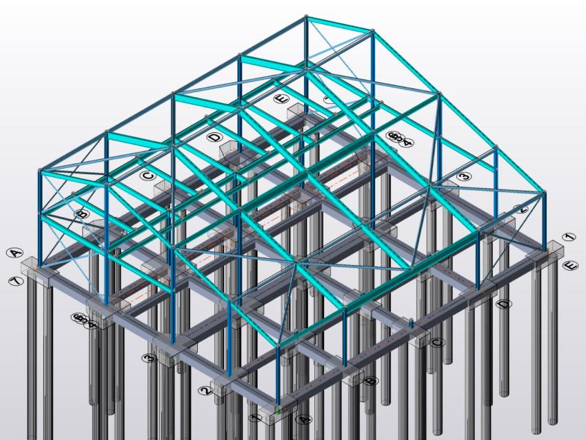 3D Design Steel Frame